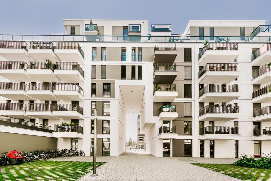Architekturfotografie im Außenbereich z. B. für Mehrfamilienhäuser